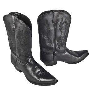HARLEY DAVIDSON women 8 M black cowboy boots